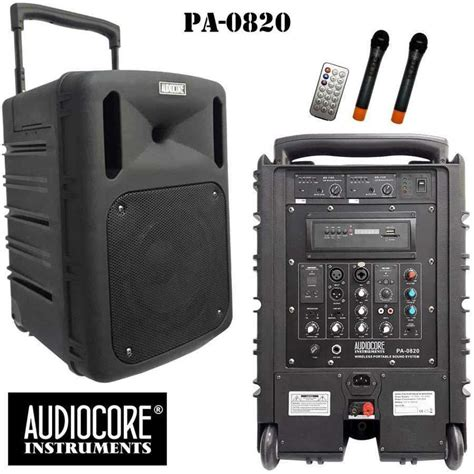 Speaker Portable Wireless Meeting Krezt Was 8412 B 12 Inch jual paket conference audiocore portable harga murah primanada