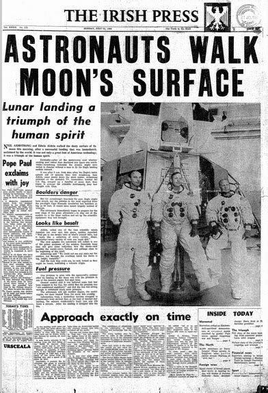 How the Moon Landing was Covered by the Irish Newspapers