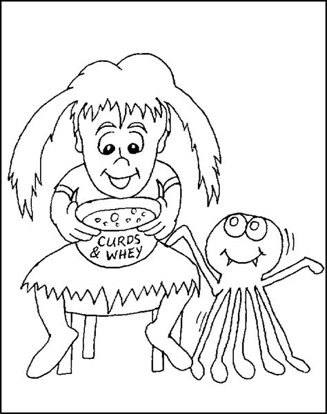 little miss muffet free coloring pages for kids