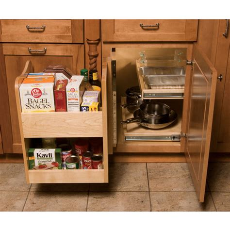 blind cabinet storage solutions kitchenmate blind corner cabinet organizer by omega