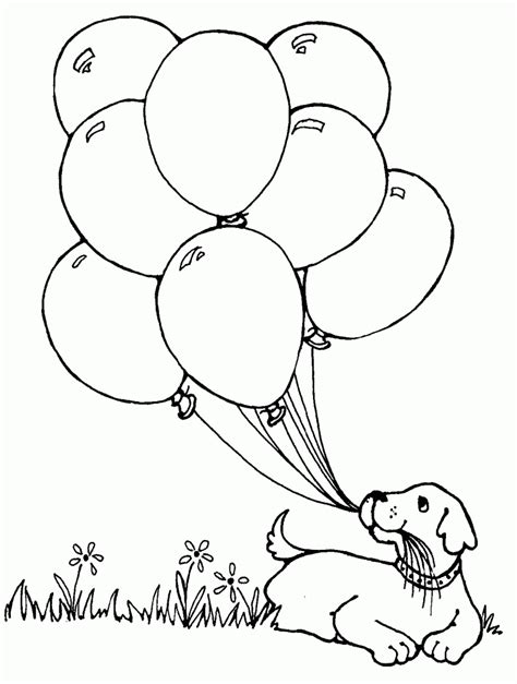 balloons coloring page wallpaper download