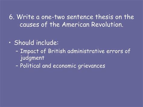 thesis statement for the american revolution ppt causes of the revolution powerpoint presentation
