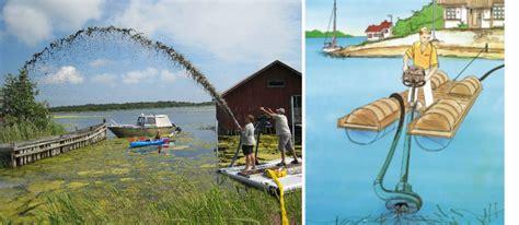 jet boat weed rake boat mounted lake weed cutter for lake or pond weeders