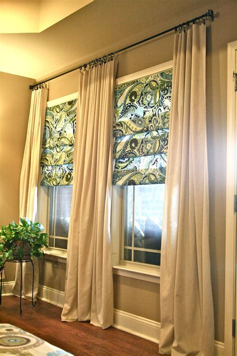 Living Room Curtains by Diy Living Room Curtains No Sew And No Sew Faux Shades From Thrifty