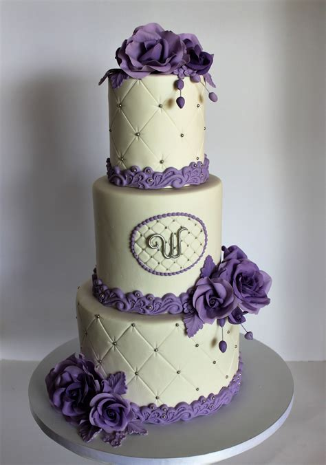 Wedding Cake Purple by Fondant Wedding Cake Purple Www Imgkid The Image
