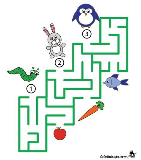 Labyrinthe 224 Imprimer Les Animaux Et Leur Nourriture