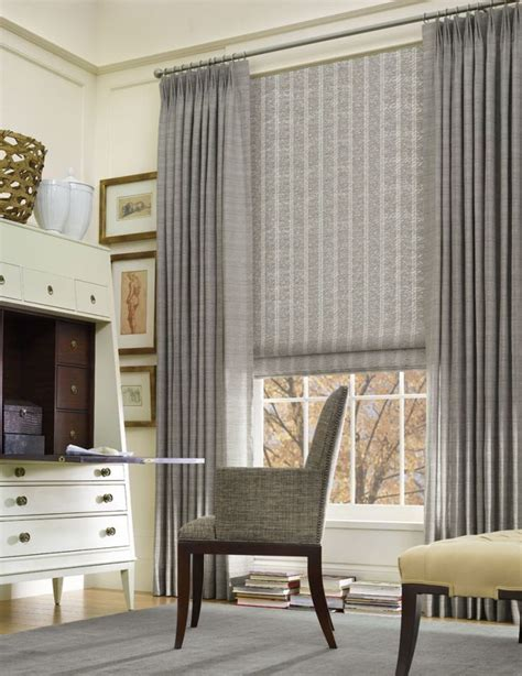 curtains with shades 25 best large window treatments ideas on pinterest