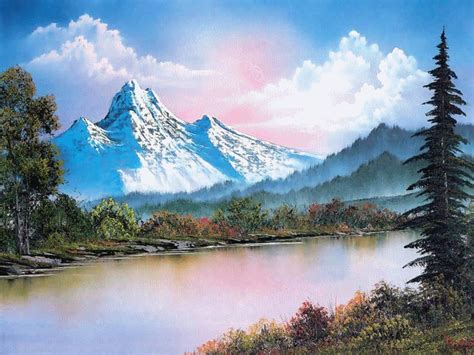 bob ross painting easiest peinture de bob ross