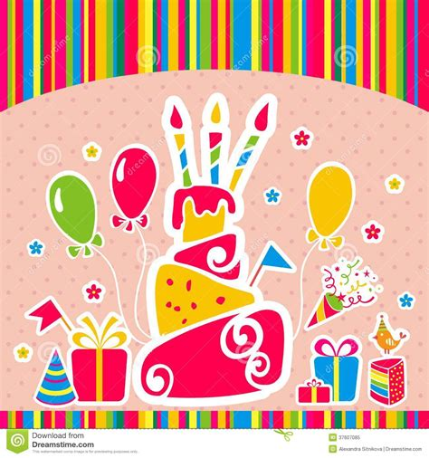 imagenes vintage baños vector happy birthday background greeting card stock