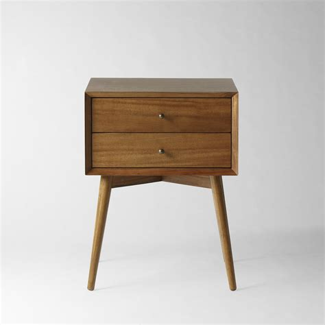 bedside tables mid century bedside table acorn