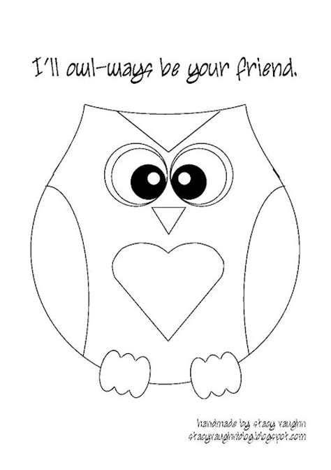 valentine owl coloring page owl template valentines pinterest for kids