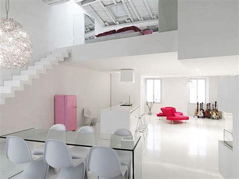white home interior hogares frescos loft minimalista y moderno con dise 241 o de