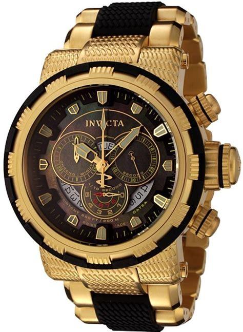 invicta s 18k gold plated and black invicta