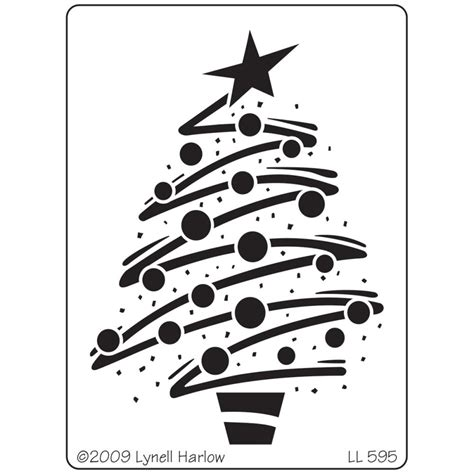 christmas tree 18 in stencil stendous dreamweaver zig zag tree metal stencil