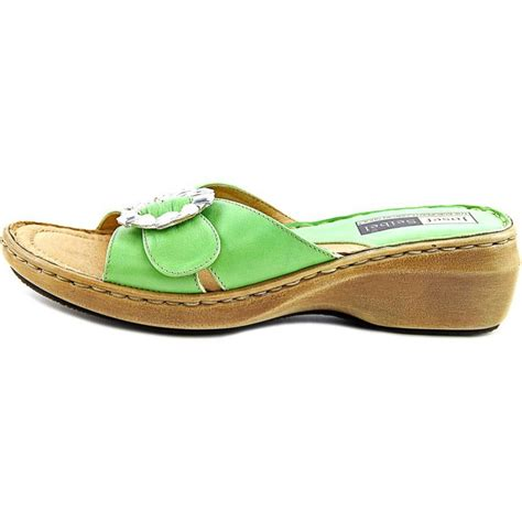 green womens sandals josef seibel ilana leather green slides sandal sandals