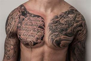 chest name tattoo designs chest tattoos for men design