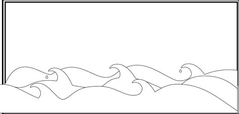 coloring page waves 187 sea waves september 2011 openclipart org commons