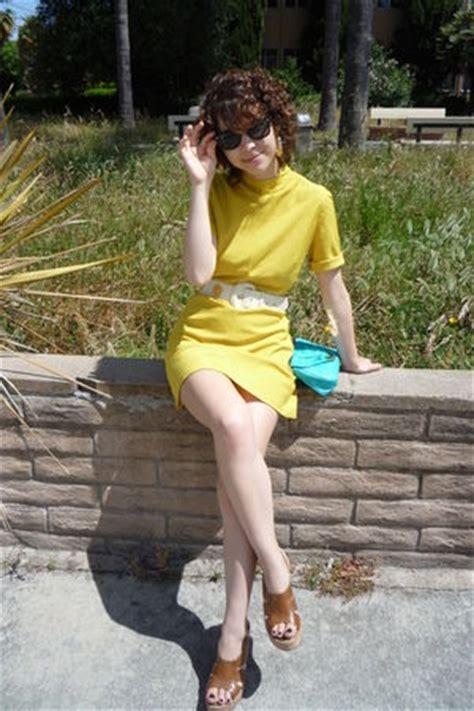 yellow vintage dresses blue asos purses white vintage