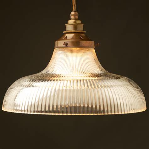 large glass pendant light large holophane glass dish light shade pendant