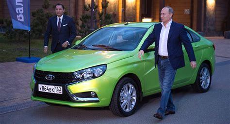 lada brand presidential test drive putin takes to the wheel of brand