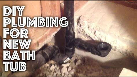 how to plumb a bathtub bathtub plumbing new installation youtube