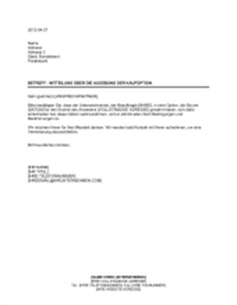 Kaufangebot Haus by Kaufoption Immobilieneigentum Vorlagen Und Muster