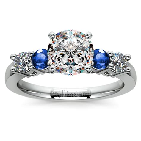 sapphire gemstone engagement ring in white