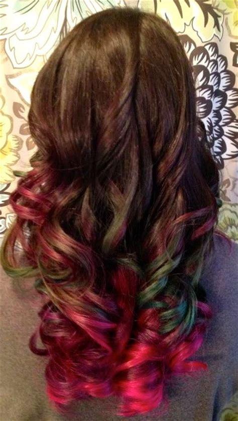 colored ombre multi color ombre hair ideas