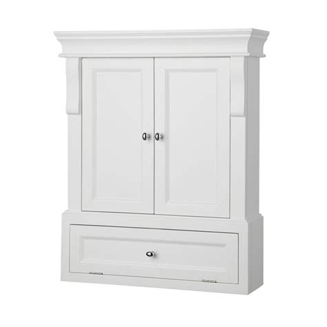 foremost naples              bathroom storage wall cabinet  white