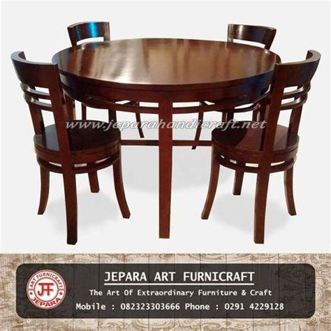 Jual Kursi Cafe Bulat jual kursi makan jati bulat minimalis harga termurah