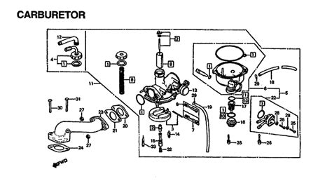 honda trx 125 carburetor wiring diagrams wiring diagrams