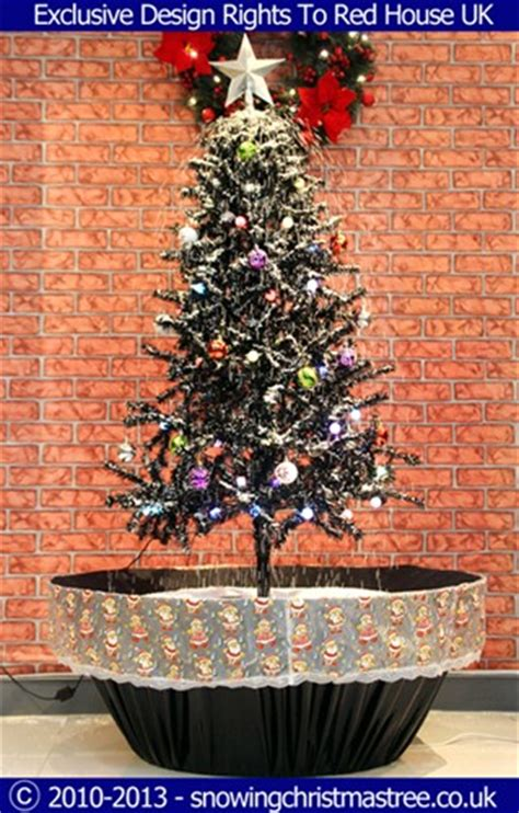 snowing christmas tree artificial snowfall black