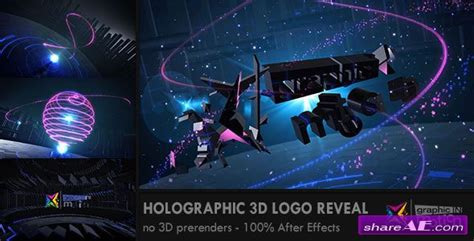 Holographic 3d Logo Reveal After Effects Project Videohive 187 Free After Effects Templates Hologram After Effects Template