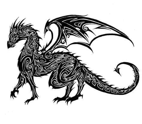 tribal dragon tattoo drawings tribal favourites by chouca of the sands on deviantart