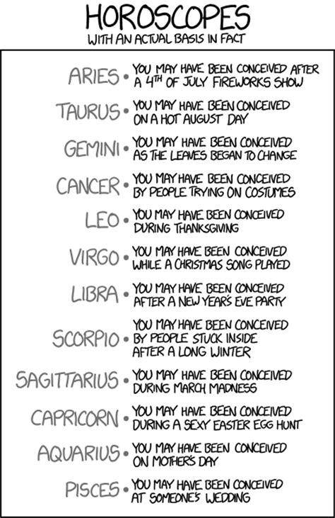 best horoscope xkcd horoscopes