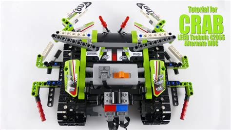 tutorial lego technic tutorial for crab lego technic 42065 alternate moc youtube