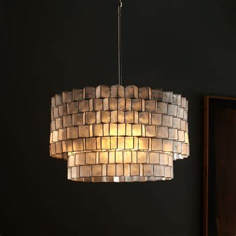 capiz zigzag chandelier west elm