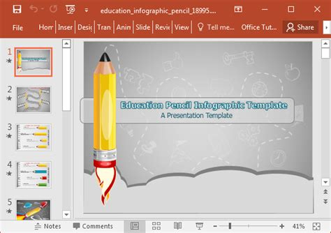 Animated Education Infographic Powerpoint Template Infographic Templates For Powerpoint