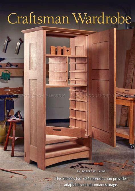 wardrobe woodworking plans craftsmans wardrobe plans woodarchivist