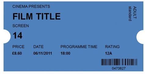 cinema ticket template word 41 free editable raffle ticket templates free
