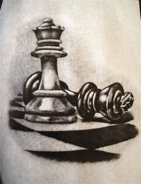 chess king tattoo designs the word checkmate in chess comes from the