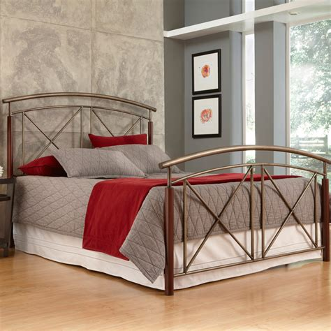 metal and wood bed fashion bed group belair wood metal bed b11215