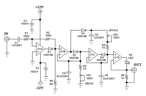 diode envelope detector envelope detector circuit with separate attack rise and decay release time settings deeptronic