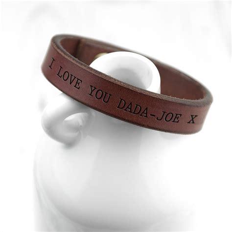mens personalised brown leather bracelet personalised s brown leather bracelet my gifts