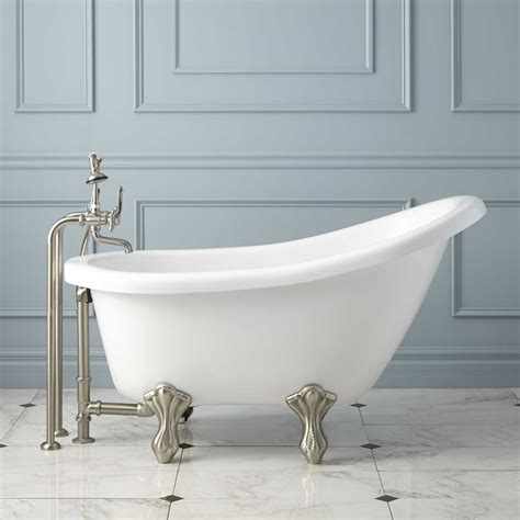 victorian bathtubs victorian acrylic slipper clawfoot tub bathroom