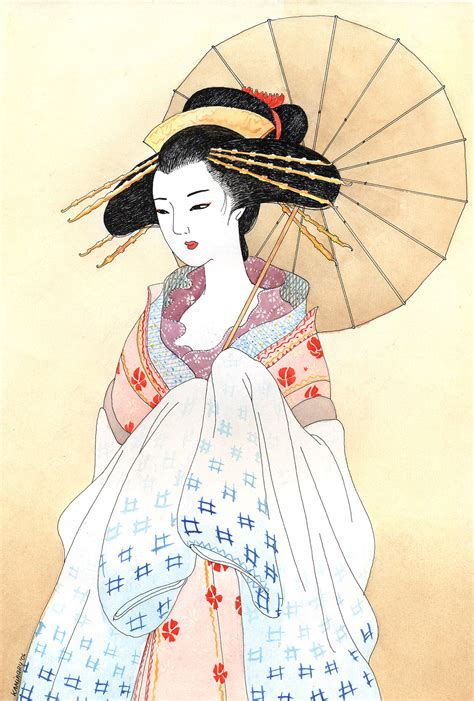 japanese geisha drawings geisha by kaminary san on deviantart
