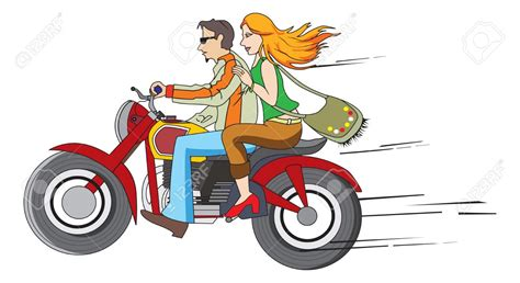 Motorrad Fahren Clipart by Biker Clipart Bike Ride