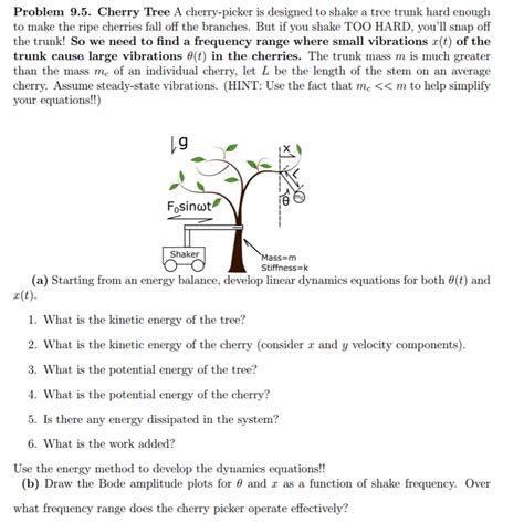 the split cherry tree 5 points answers solved cherry tree a cherry picker is designed to shake a chegg