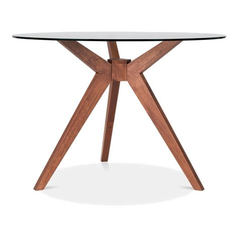 glass and walnut dining table cult living vallentuna dining table in walnut cult