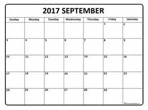 Calendar October 2017 To September 2018 September 2017 Calendar September 2017 Calendar Printable